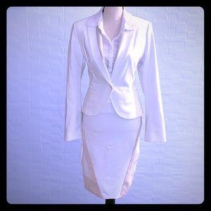 Express White & Taupe Blazer